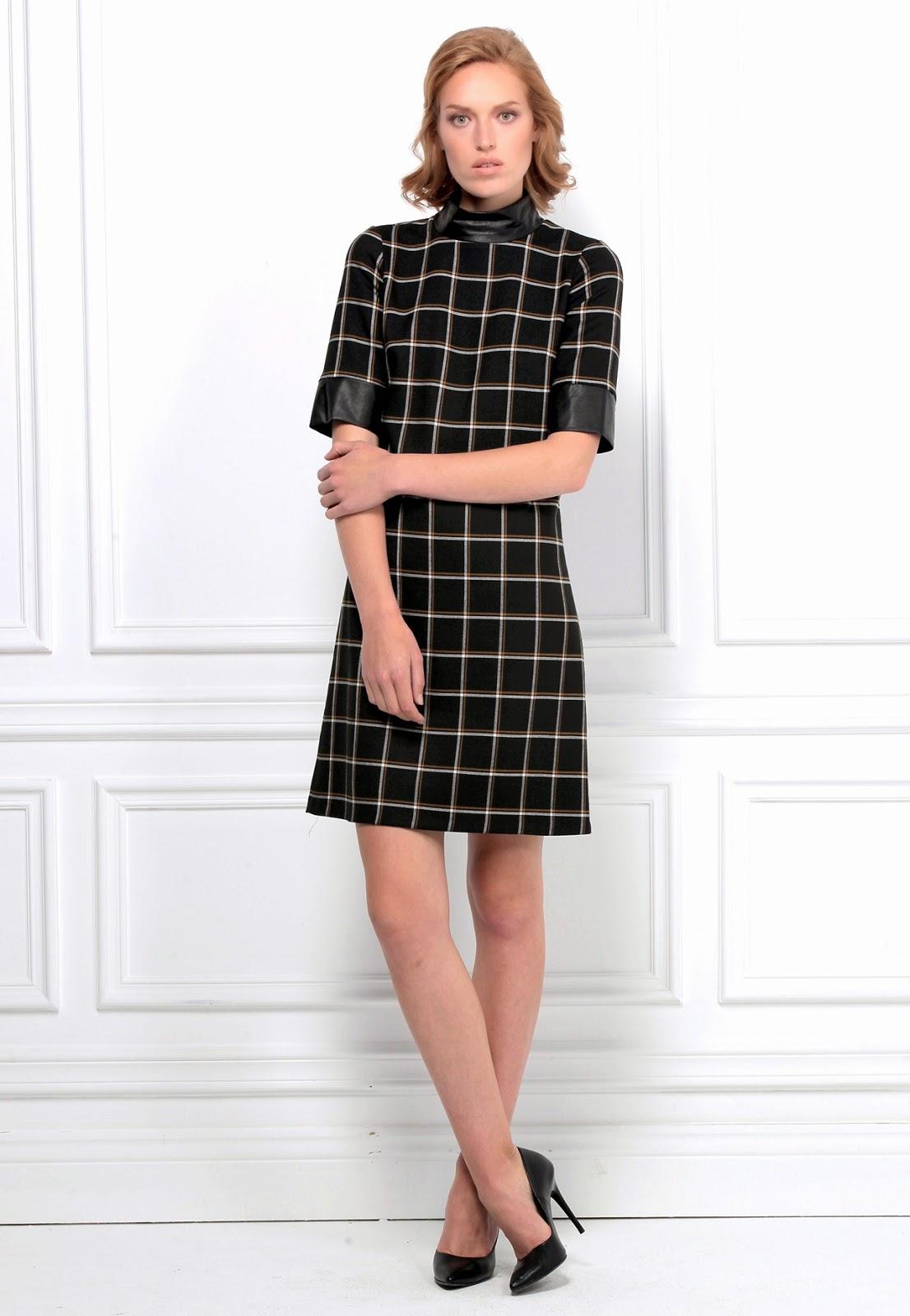 kareli elbise, 2015 elbise