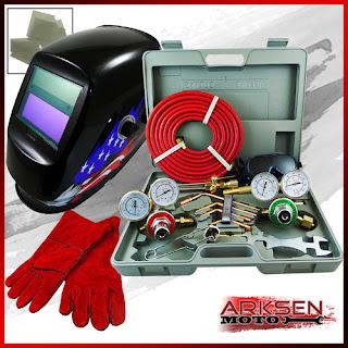 Oxy Acetylene Welding Cutting Torch (Harris) +HD Gloves +Eagle Auto Dark Helmet