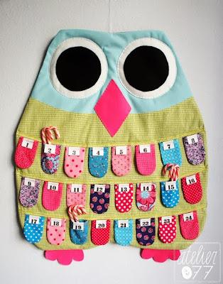 atelier077 owl advent calendar uil adventkalender