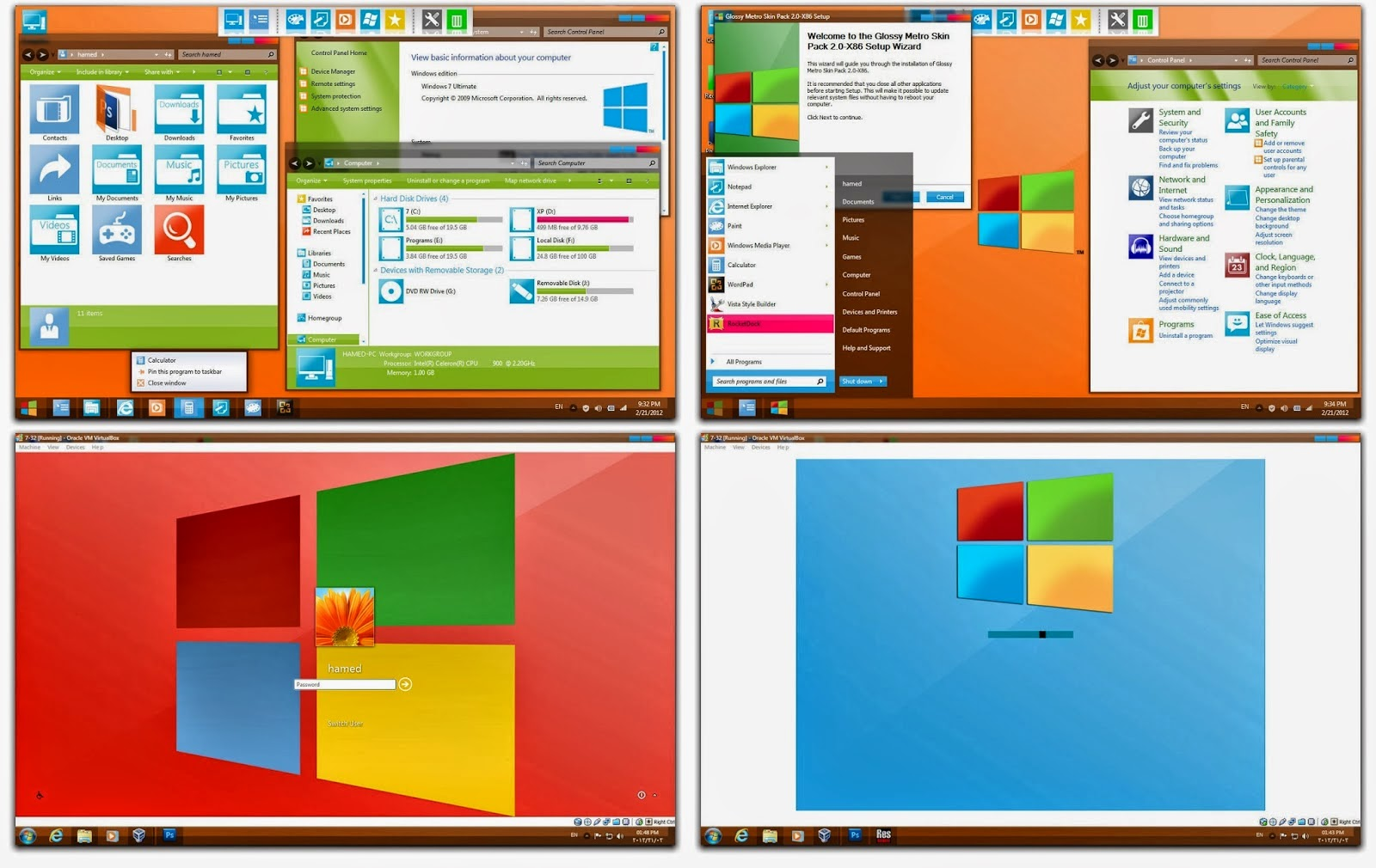 Skin Pack 8.1 Windows Application 2014 For XP AND VISTA 7 2014