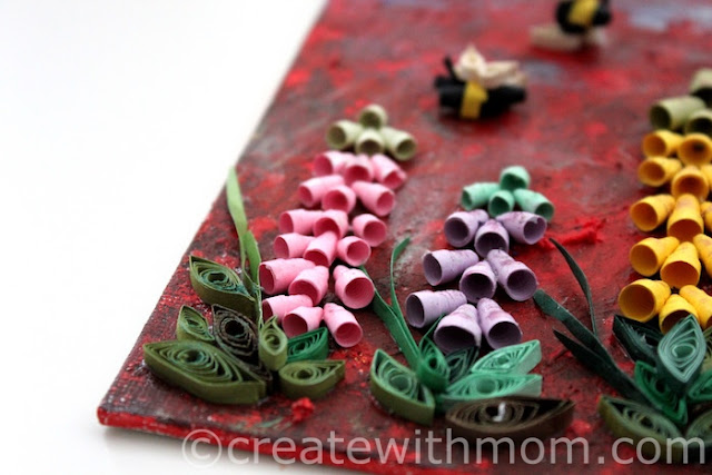 foxgloves flower quilling