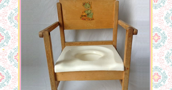 Cute Vintage Potty Chair - 1950s Hedstrom Wooden Folding ...
