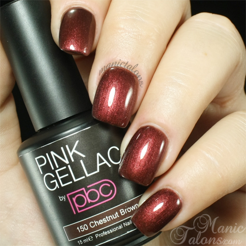 Pink Gellac Chestnut Brown Swatch