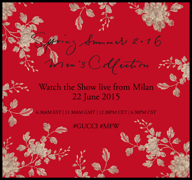 BAA Exclusive: Watch Gucci's Men's SS16 show LIVE from Milan NOW!