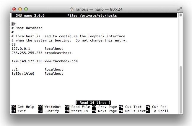 Edit Hosts File Mac