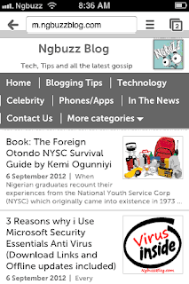 m.Ngbuzzblog.com on Mobstac theme