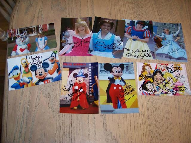 Autographed Disney Character Pictures filmprincesses.blogspot.com