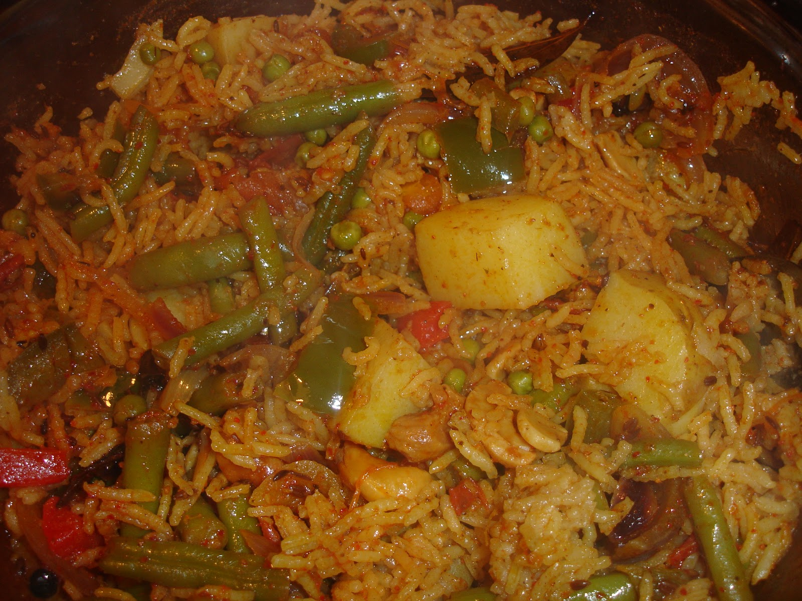 Delicious Indian Recipes and more!: Vegetable Rice or Vegetable Pulao