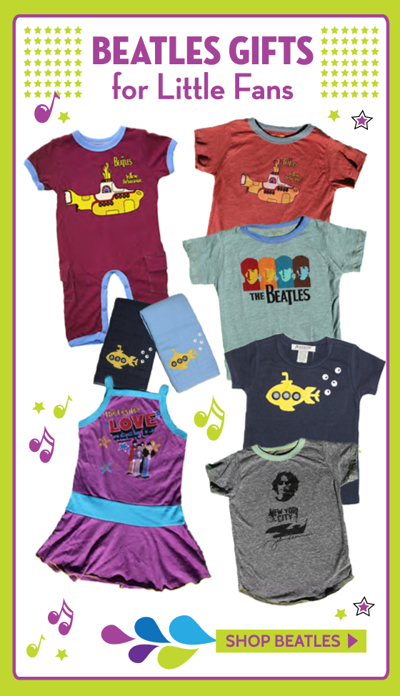Beatles Tees, Beatles Clothing, Beatles Gifts, Beatles Baby Clothes