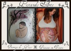 Barriga de gesso e pintura em ventre