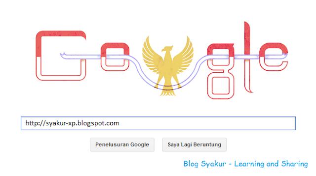 Hari Kemerdekaan Indonesia 2013 - Versi Google | Blog Syakur