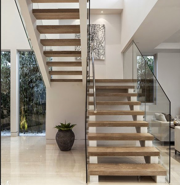 Casas minimalistas y modernas las escaleras minimalistas - Casas con escaleras interiores ...