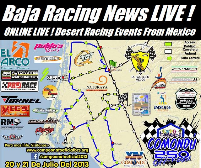 Baja 1000 2014 Course Map