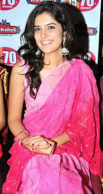 Deeksha Seth in Pink Saree
