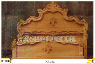Tempat tidur kayu jati ukir jepara Kirana murah.Jakarta