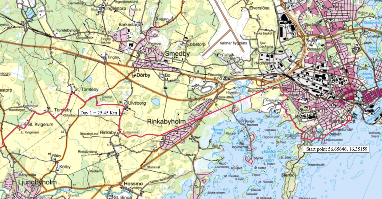 Coast To Coast Sweden Maps And Trail Description For Sale - Sweden map 2015
