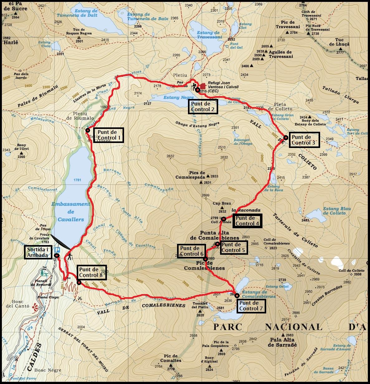 De fita en fita la punta alta 3014 m mapa amb els punts de referncia thecheapjerseys Choice Image