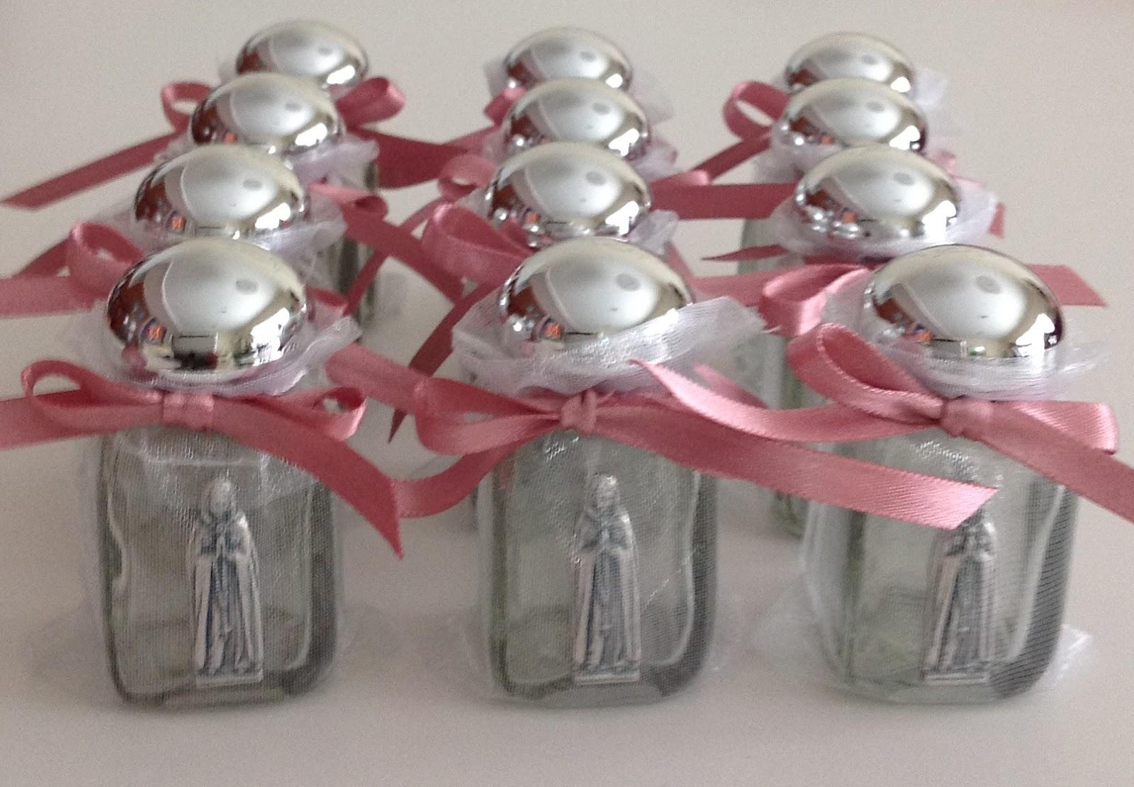 Botellas para agua bendita con imagen de la Rosa Mística
