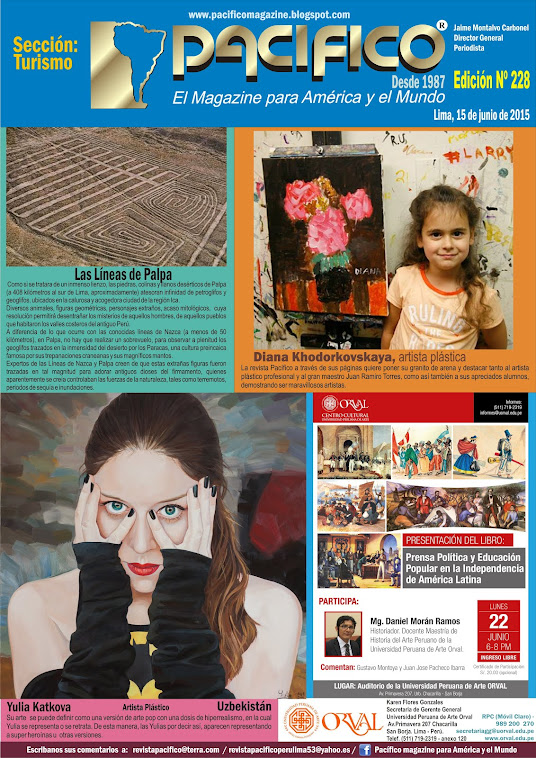 Revista Pacífico Nº 228 Turismo