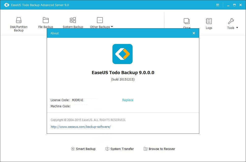 easeus todo backup advanced server 8.2