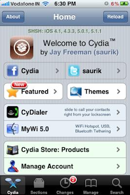 cydia home