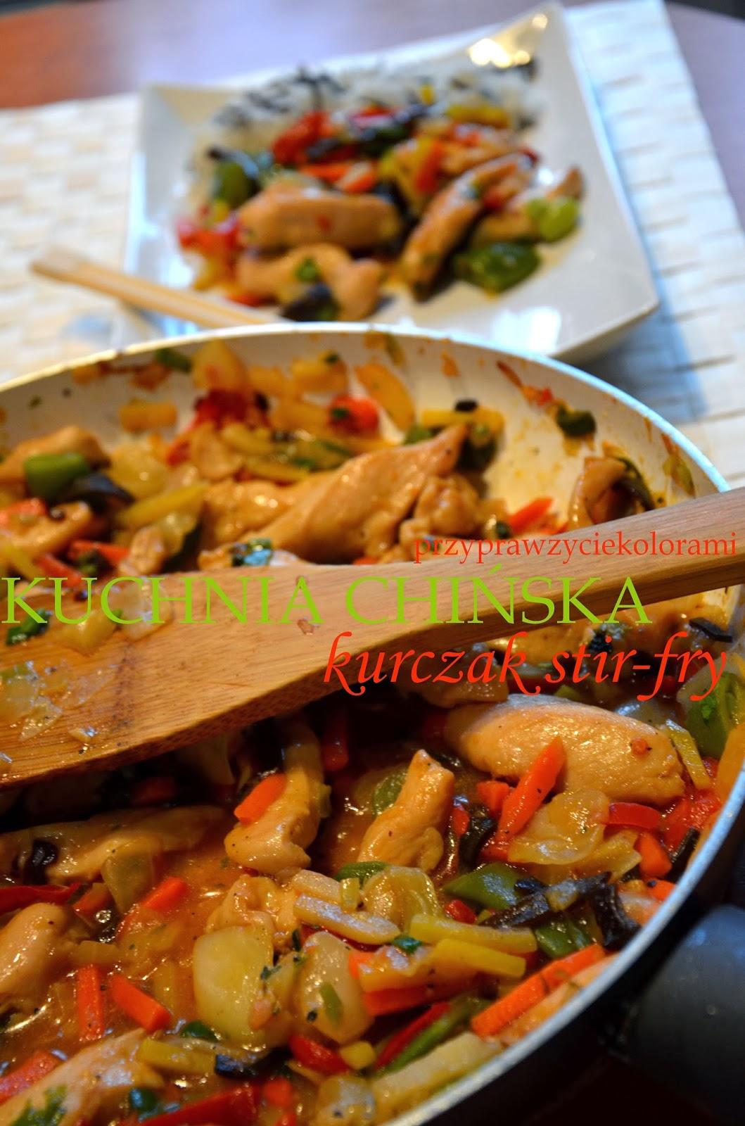 Przypraw życie Kolorami Kuchnia Chińska Kurczak Stir Fry