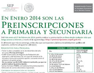 Inscripciones Primaria, Secundaria, Preescolar, SEP DF 2015-2016 ...