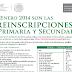 Inscripciones Primaria, Secundaria, Preescolar, SEP DF 2014-2015
