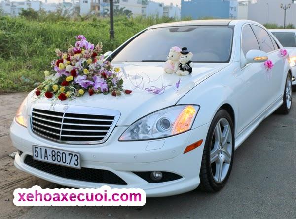 Cho thuê xe cưới màu trắng Mercedes S550