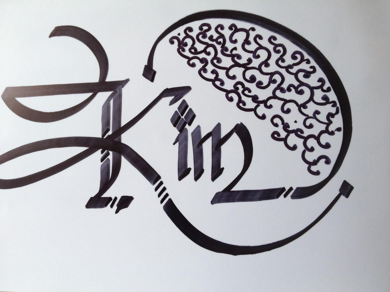Calligraphy art girl names in angelina