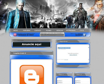 Template Para Blog De Download Editavel