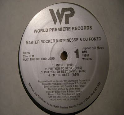 Master Rocker Kid Finesse* & DJ Fonzo – Put You To Rest Master Rocker Kid Finesse* & DJ Fonzo ‎– Put You To Rest (1987, 256, 12'')