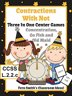 http://www.teacherspayteachers.com/Product/New-Years-Not-Contractions-Center-Games-Interactive-Notebook-Activities-1018238
