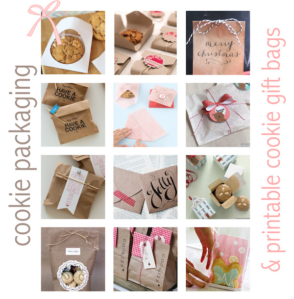 Free Printable Cookie Gift Bags Packaging Ideas Keksverpackungen Round Up