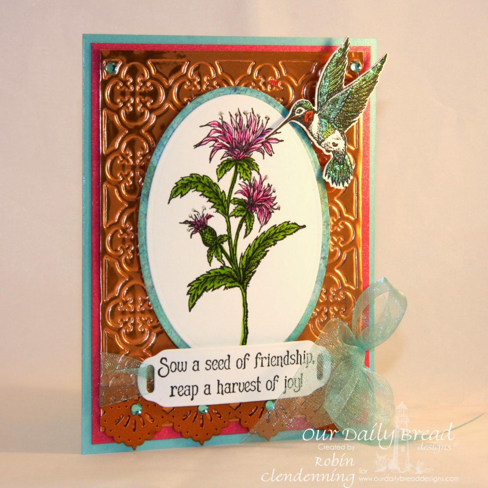 Blooming Garden Paper Collection, Hummingbird die, Quatrefoil Pattern, Beautiful Borders
