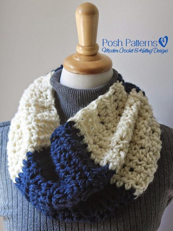 Free Crochet Patterns Cowls Neck Warmers : Posh Patterns Easy Crochet Patterns and Knitting Patterns ...