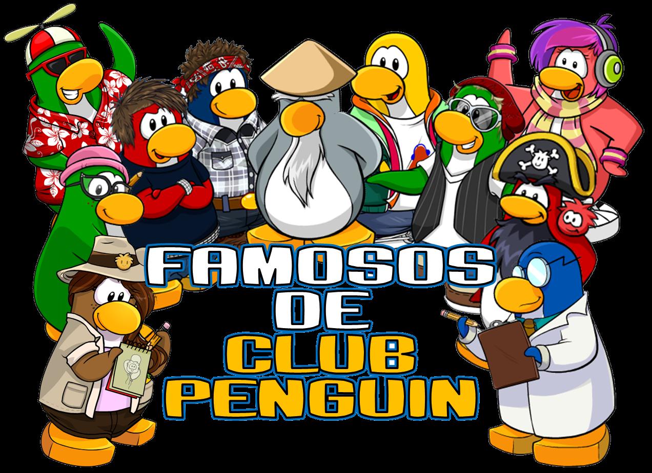 Esto son todos lo famosos de club penguin