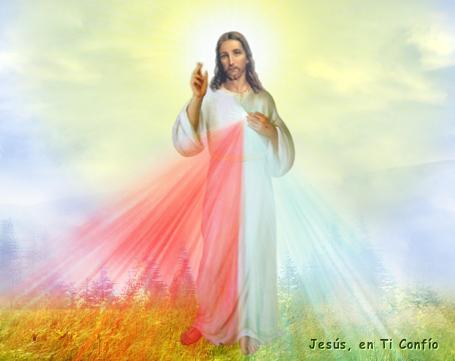 jesus con los rayos de misericordia