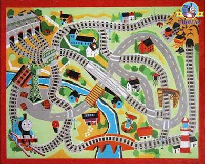 Best creative play game Thomas & friends train puzzle floor mat nursery furniture for kids bedrooms