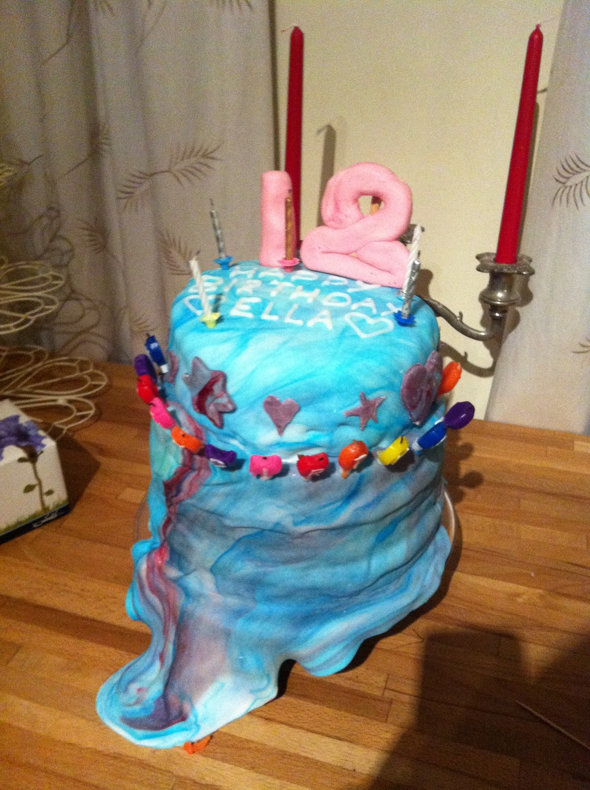 Here Is My 18th Birthday Cake It Was A Seven Layer Rainbow I Made The Bottom