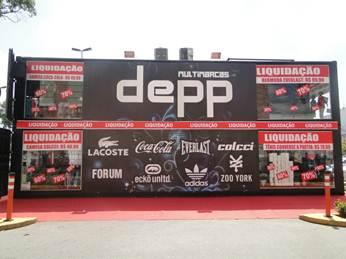 Loja container da Depp no Bangu Shopping