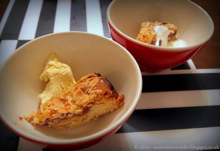 Homemade raspberry and almond cake, aka Bakewell Tart