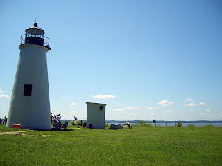 The Turkey Point Lighthouse in Elk Neck State Park, Maryland