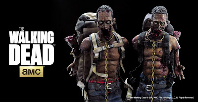 The Walking Dead Michonne's Pet Zombies 1:6 Scale Action Figures by Threezero - Red and Green Colorways
