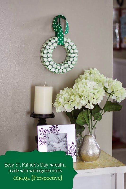 St. Patrick's Day Mint Candy Wreath