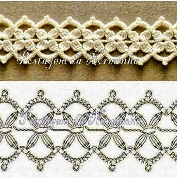 5 modelos de puntillas crochet