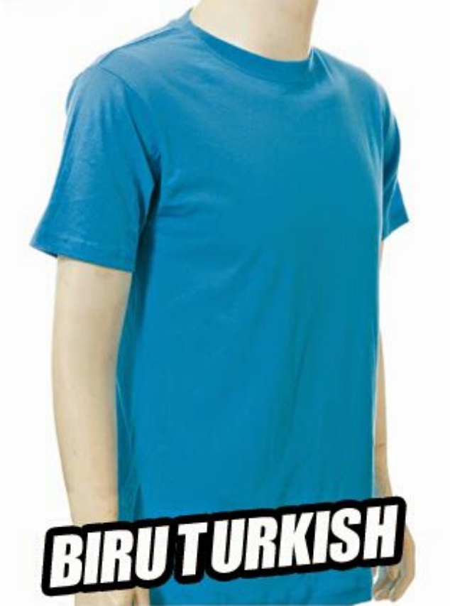 Biru Turkish Kaos Polos Anak Tshirt Oblong