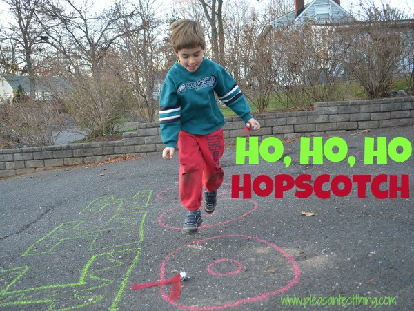HO HO HO Hopscotch- fun Christmas themed activity