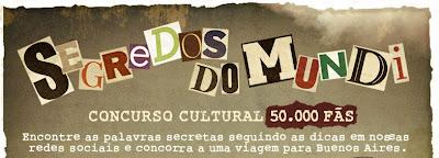 """Concurso Cultural  """"Segredos do Mundi"""""""