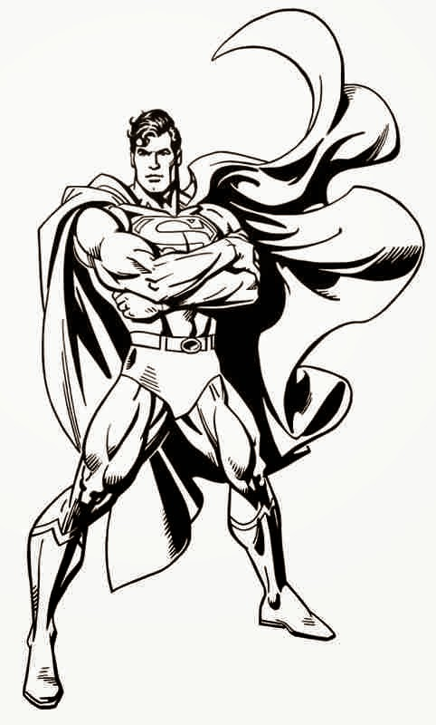 Hilaire image regarding superman printable coloring pages
